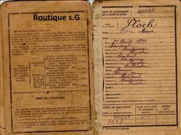 Livret Individuel Floch Pierre Marie 1919 19 Eme Regimement D Infanterie Guerre Histoire Brest  Finistere - Documents
