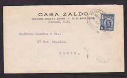 Panama: Cover To France, 1931, 1 Stamp, Heraldry (minor Damage) - Panama