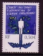 FRANKREICH MI-NR. 3695 POSTFRISCH(MINT) MITLÄUFER 2003 CHARTA DER GRUNDRECHTE DER EU - European Ideas