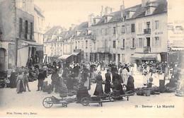 COMMERCE Foires Marchés - 21 - SEMUR En AUXOIS : Le Marché  ( Belle Animation - Brouettes ) CPA - Somme MARKET - Marktplaatsen