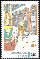 Timbre Privé** - Tintin / Kuifje / Tim / Tintin - Milou / Bobbie / Struppi / Snowy - Les Cigares Du Pharaon - Cinema