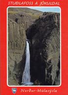 Iceland PPC Studlafoss á Jökuldal Nordur-Múlasýsla Waterfall Wasserfälle Edit. Sólarfilma No. 467 (2 Scans) - Islandia
