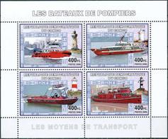 D - [31141]SUP//**/Mnh-RD CONGO 2006 - Les Moyens De Transports - Les Bateaux De Pompiers. - Brandweer