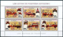 D - [31204]SUP//**/Mnh-RD CONGO 2006 - Les Moyens De Transports - Les Autos De Pompiers Antiques I. - Auto's