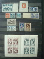FRANCE MNH** GOOD VALUES (UPU, Ader, BIT, Centenaire Timbre, Croix-Rouge 1962, Briand, ...) - Collections
