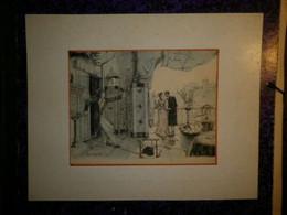 LITHOGRAPHIE DE MAX DE GEYMÜLLER - SCENE HUMORISTIQUE - 1894 - EDITION LE MONDE ARTISTE ILLUSTRÉ - Litografía