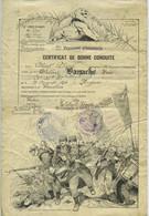 Certificat De Bonne Conduite 132e RI. Verdun 1920.  Voir Vente Du Livret Militaire Du Même. - Documenten
