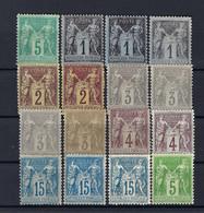 Frankreich Lot Allegorien * - 1876-1898 Sage (Type II)