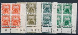 EC-346: FRANCE: Lot Avec Coins Datés** Taxes N°91-92-93-94(mini Froissures) - Strafport