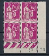 EC-356: FRANCE: Lot Avec Coin Daté** N°289 - 1930-1939