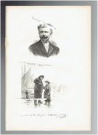 GEORGES HAQUETTE 1852 PARIS 1906 DIEPPE PEINTRE DE PECHEURS PORTRAIT AUTOGRAPHE BIOGRAPHIE ALBUM MARIANI - Documenti Storici