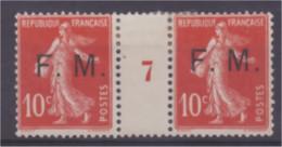 Timbre FM N° 5 Semeuse 10 C Rouge Millésime 7 Neuf * Trace Charnière - Millesimes