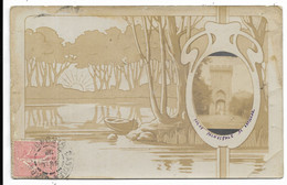 33-CADILLAC- CARTE PHOTO Fantaisie ...Porte Principale...1905  (coin Pli) - Cadillac