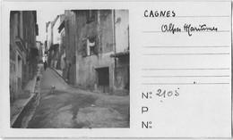 06 CPA CAGNES SUR MER RUE PHOTO - Cagnes-sur-Mer