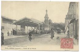 33-GENSAC- Place De La Halle...1906  Animé - Other Municipalities