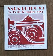 AUTOCOLLANT  STICKER - VARS RETRO - JUILLET 1983 - KRYPTON DISCOTHÈQUE - AIX-EN-PROVENCE - AUTOMOBILE VOITURE - Pegatinas