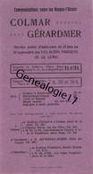 88 1253 GERARDMER VOSGES 1935 Auto Cars COLMAR GERARDMER Mrs CH. LUNG Et TURCKHEIM Mr SZYMANSKY JECKER - Europe