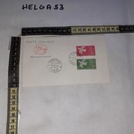 FB9810 REPUBBLICA ITALIANA FDC CAVALLINO TIMBRO ANNULLO 1961 CEPT EUROPA - FDC