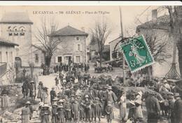 15 GLENAT  La Place De L'eglise - Otros Municipios