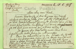 "Kaart CAMP D'AUVOURS (centre D'instruction) Met Tekst ""Quitte L'Hopital""  (457) - Belgisch Leger"