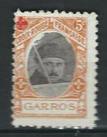 VIGNETTES DELANDRE GARROS Aviation Croix Rouge Avion Guerre WWI WW1 Cinderellas Poster Stamps 1914 1918 - Croix Rouge