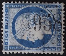 60A Variété Filet N, Obl GC 1958 Lanvollon (21 Cotes Du Nord ) Ind 6 ; Frappe Nette - 1849-1876: Classic Period