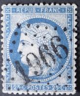 60A Planchage 34D3, Obl GC 1966 Lardy (72 Seine & Oise ) Ind 8 - 1849-1876: Periodo Clásico