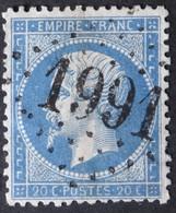 22 Obl GC 1991 Laventie (61 Pas De Calais ) Ind 5 ; Frappe Très Nette & TB Centrée - 1849-1876: Klassik