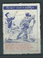 VIGNETTES époque DELANDRE Lyon Guignol Guerre WWI WW1 Cinderellas Poster Stamps 1914 1918 - Military Heritage