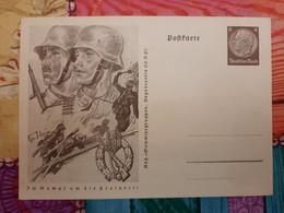 Carte Postale Allemande WW2 : Hommage à L'infanterie De La Wehrmacht - War 1939-45