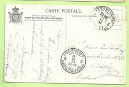 "Kaart Stempel PMB 5 Op 211/4/17 Naar ""ELISABETHVILLE / BRITLEY / H.21B. (772) - Belgisch Leger"