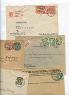 8609) 10 Belege Gesamtdeutschland - Machine Stamps (ATM)