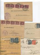 1616) 10 Belege Gesamtdeutschland - Machine Stamps (ATM)