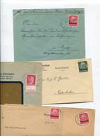 8493) 10 Belege Gesamtdeutschland - Machine Stamps (ATM)