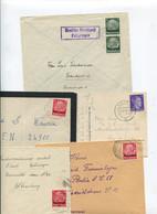 8416) 10 Belege Gesamtdeutschland - Machine Stamps (ATM)