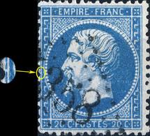 France - Yv.22 20c Empire Dentelé Position 82D3 - Obl. GC 4358 (ind. 3 - YVETOT, Seine-Maritime) - TB - 1862 Napoleon III