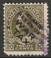 Canada 1915 Sc MR2Ci  War Tax Used Pinholes - Kriegssteuermarken