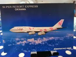 JAPAN AIRLINES  B747 EXPRESS OKINAWA JAPAN Airline Issue - 1946-....: Era Moderna