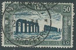 1930 REGNO USATO MILIZIA 50 CENT - RE30-10 - Usati