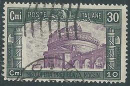 1930 REGNO USATO MILIZIA 30 CENT - RE30-10 - Usati