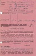 Palestine: 1945: Jerusalem Instalment Account Teheran - Palestine