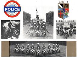 Motards C.R.S. N° 1 - Peloton Motocycliste D'Acrobatie De La Police Nationale (Ally, Haute-Loire 1979) - Polizei - Gendarmerie