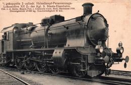 Lokomotive XII Der Kgl. S. Staats-Eisenbahn - Gekuppelte 2 Zylindr. Heissdampf-Personenzugs - Hartmann 1910 - Trains