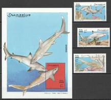 NW1403 2003 SOMALIA SOOMAALIYA SOOMALIYA SHARKS MARINE LIFE FAUNA SET+BL MNH - Marine Life