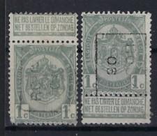 Wapenschild Nr. 53 Voorafgestempeld Nr. 789 A + B  ROUX 06 ; Staat Zie Scan ! Inzet Aan 45 € ! - Rolstempels 1900-09