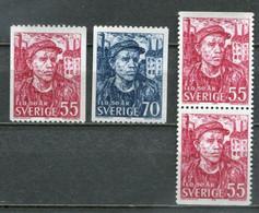 Schweden Sweden Sverige Mi# 632-3C/D Postfrisch/MNH - ILO, Worker - Nuovi