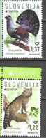SLOVENIA, 2021, MNH, EUROPA, ENDANGERED WILDLIFE, FELINES, LYNX, BIRDS,2v - Andere