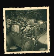 Foto 2. WK 1941 Flak Artillerie Leutnant Im Auto, Oldtimer, Technik, KfZ - Oorlog, Militair