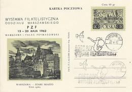 Poland Overprint Cp 210 C X.01 War: Philatelic Exhibition 1962 Mermaid Pigeon - Entiers Postaux