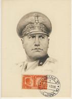 F. SPOLTORE - Ritratto Di Mussolini - Annullo Di Lubiana Del 25/7/1943 (1 Immagini) - Personnages